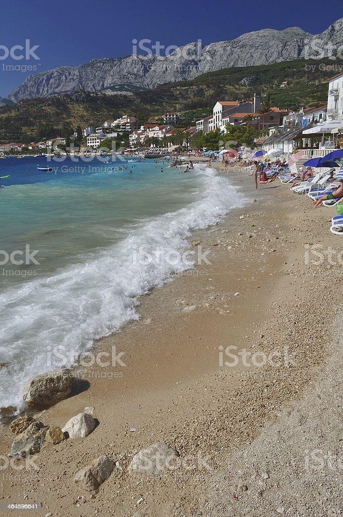 Niesamowite plaży Podgora.  Chorwacja zbiór zdjęć royalty-free
