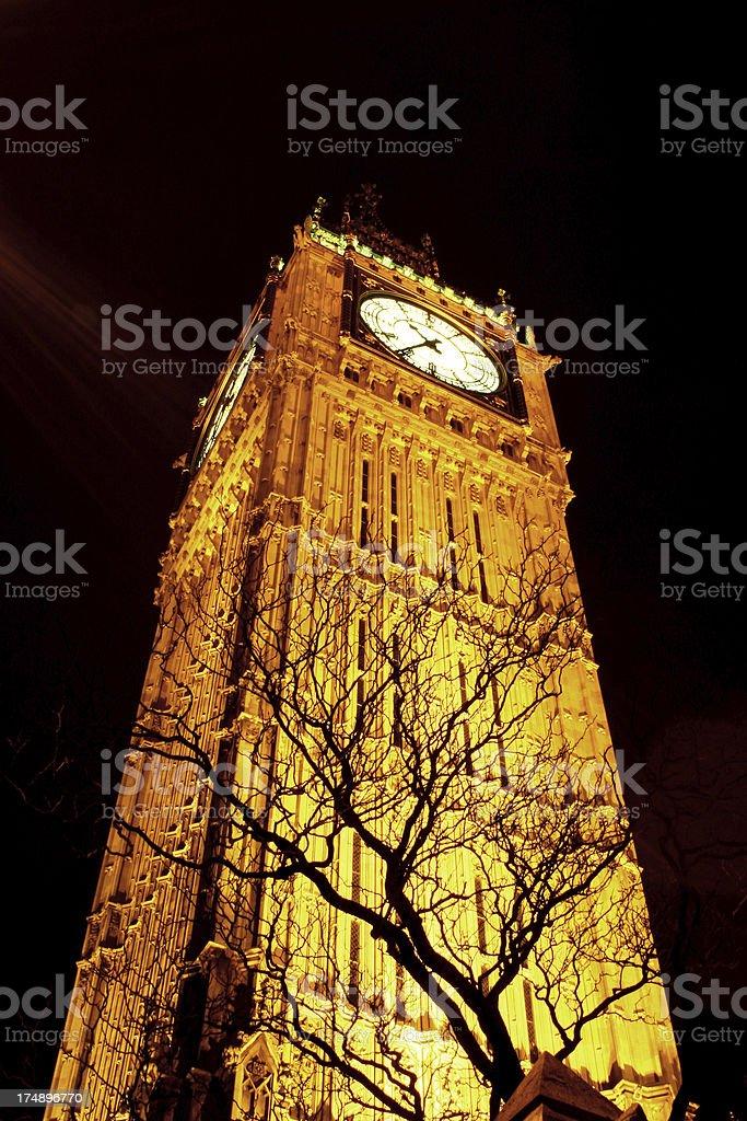 Amazing Big Ben at Night (London) royalty-free stock photo