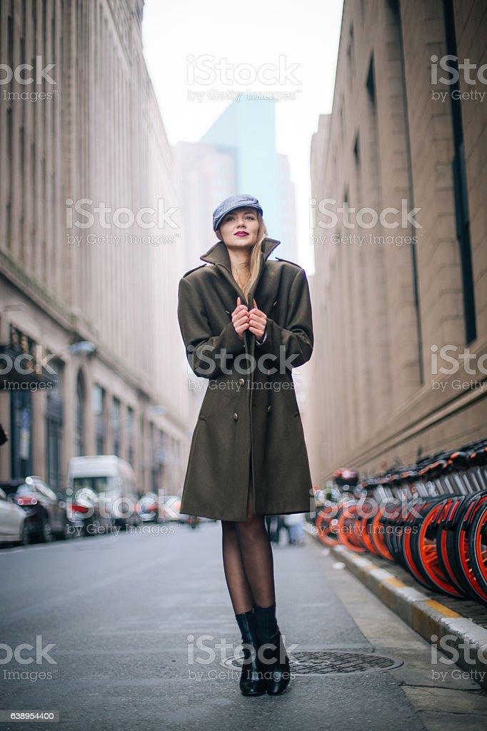 Amazing blonde woman stock photo
