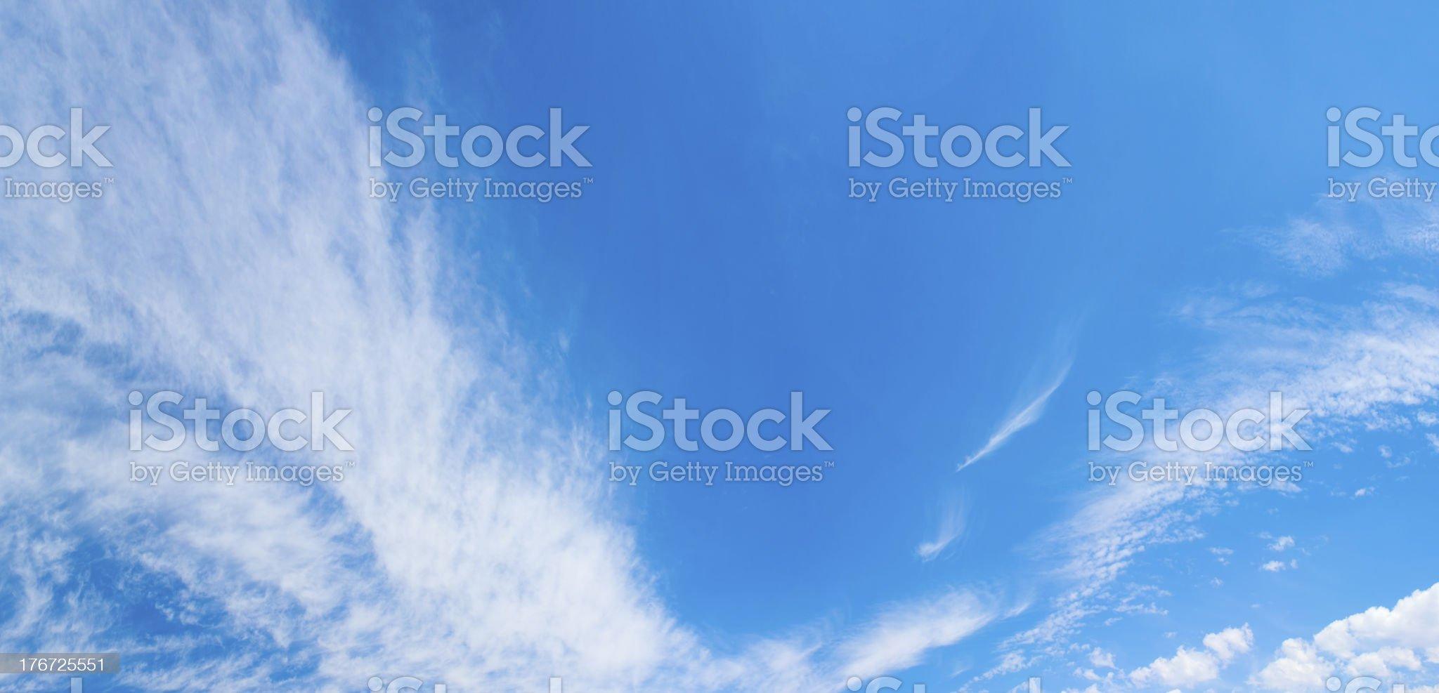 Amazing blue skies royalty-free stock photo