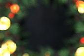 Amazing bokeh of christmas lights