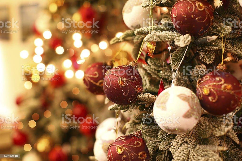 Amazing Christmas tree stock photo
