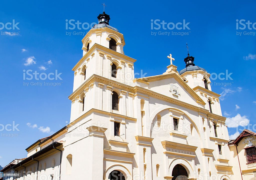 Amazing church in Colombia stock photo