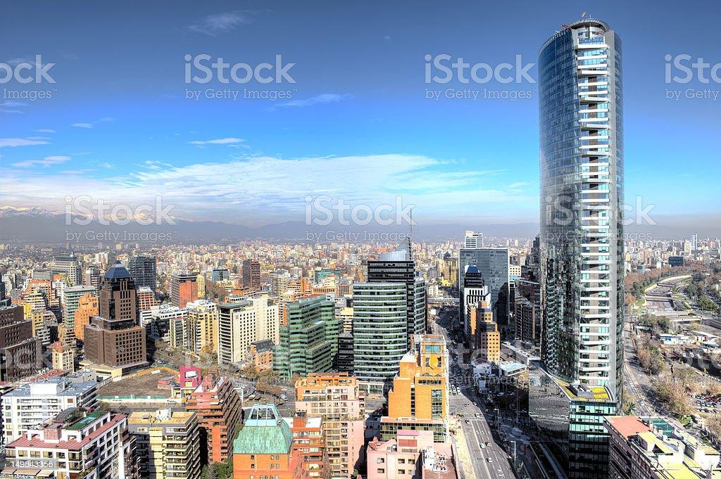 Amazing City Aerial shot stock photo