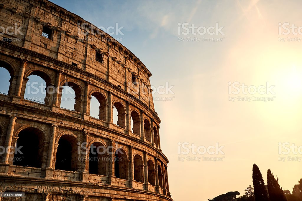 amazing Colliseum shot stock photo