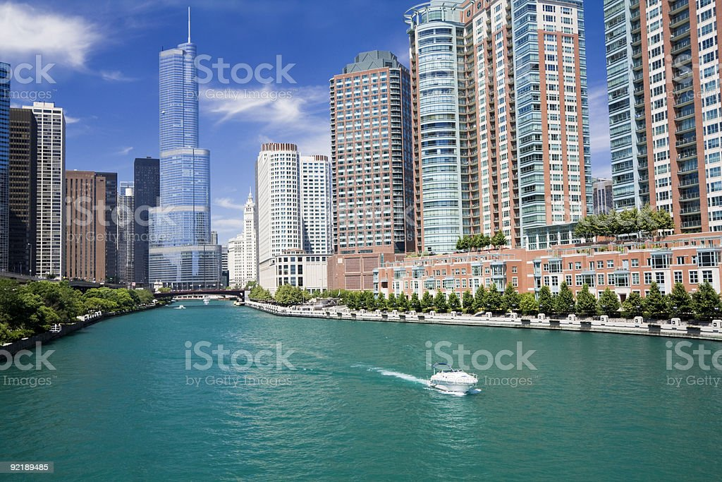 Amazing day in Chicago royalty-free stock photo
