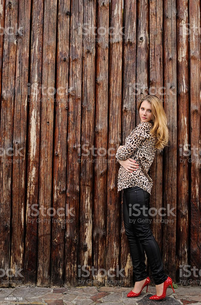 Amazing girl with freckles stock photo