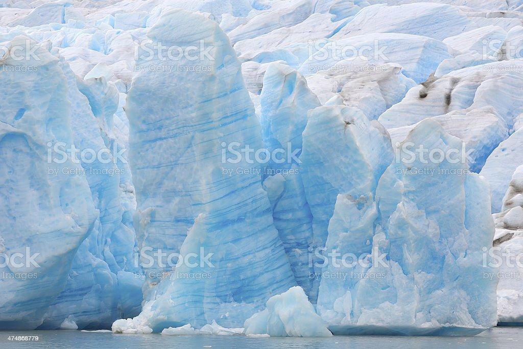 Amazing glacier royalty-free stock photo