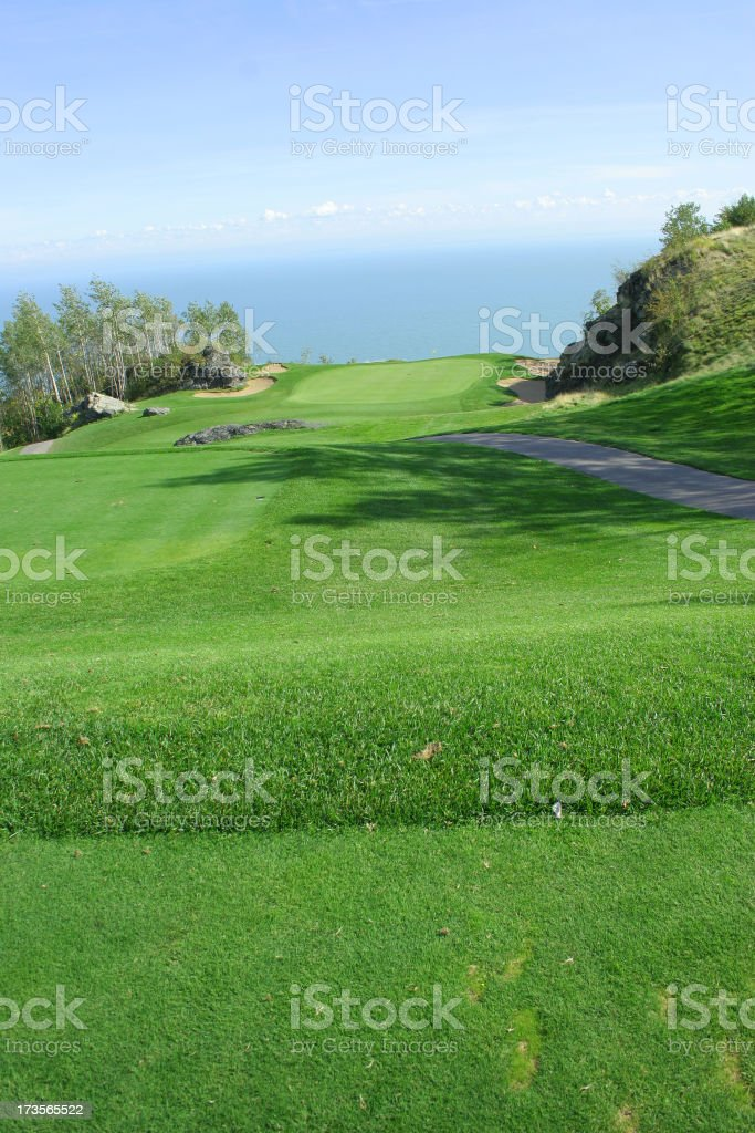 Amazing golf green royalty-free stock photo