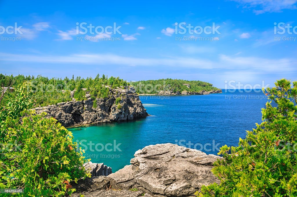 amazing gorgeous landscape view of great inviting Cyprus stock photo