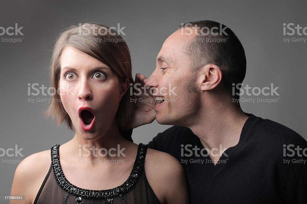 Amazing gossip stock photo