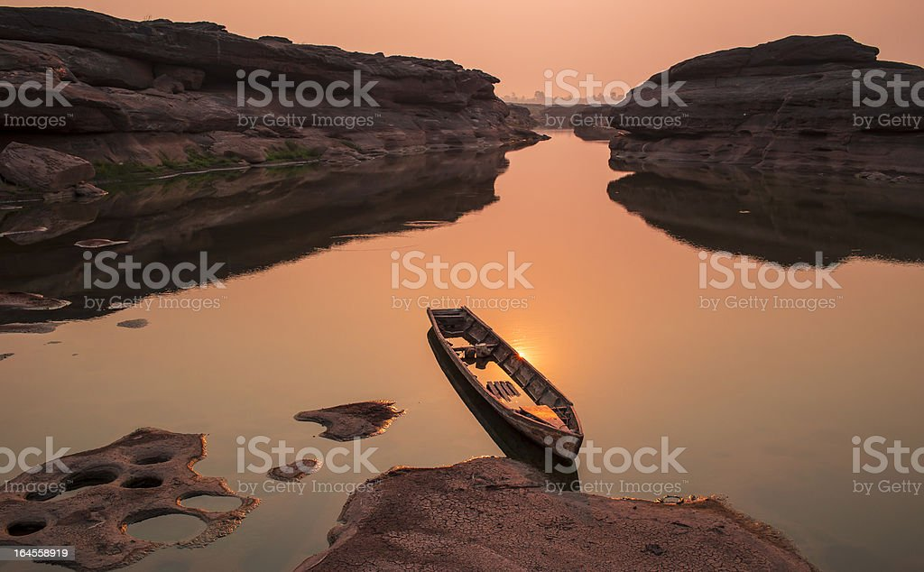 SAM  PHAN  BOK amazing Grand Canyon National Park in Thailand royalty-free stock photo