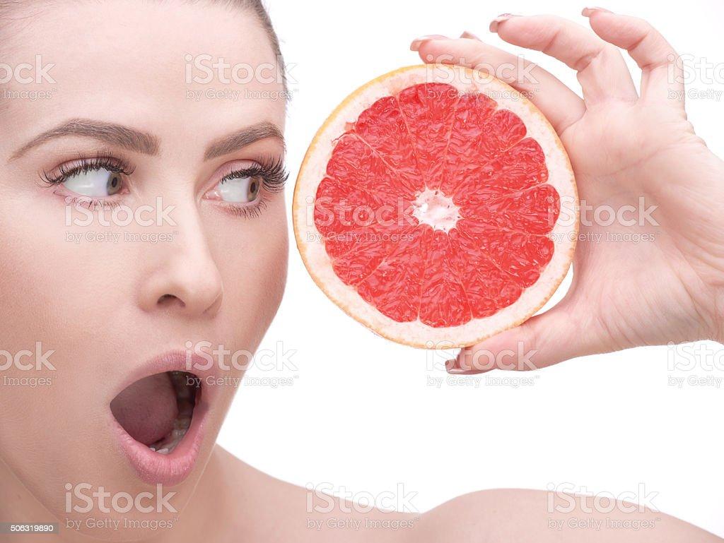 amazing grapefruit stock photo
