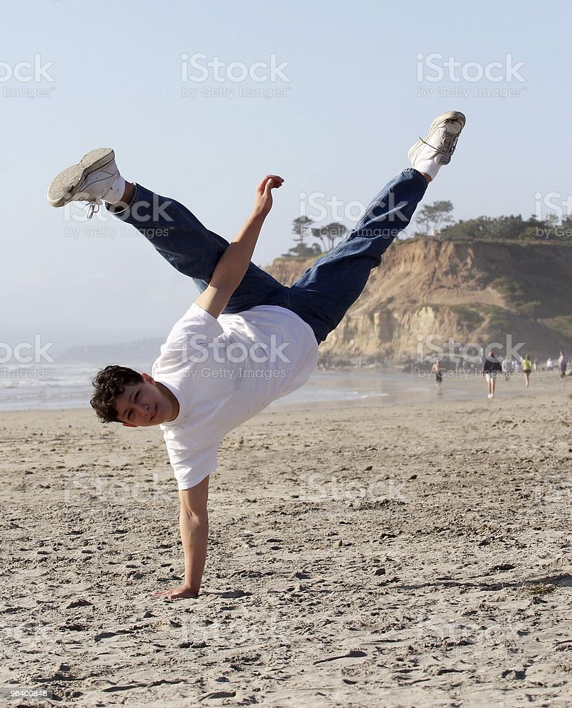 Amazing handstand royalty-free stock photo