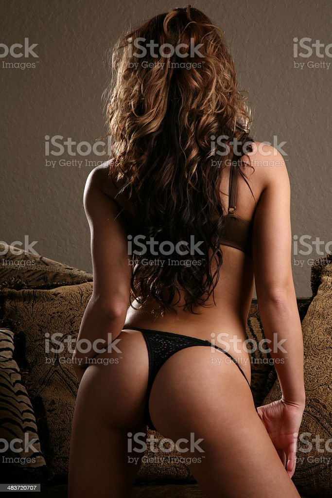 Amazing hot sexy thong lingerie and Body royalty-free stock photo