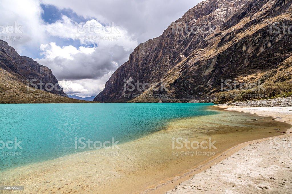 Amazing Huaraz National Park in Peru, South America. stock photo