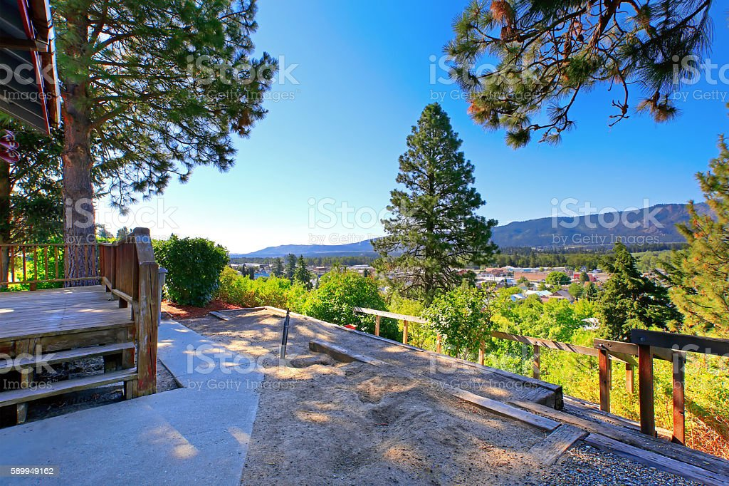Amazing landscape view from the back deck stock photo