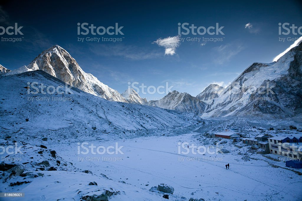 Amazing morning on Himalayan Heights stock photo