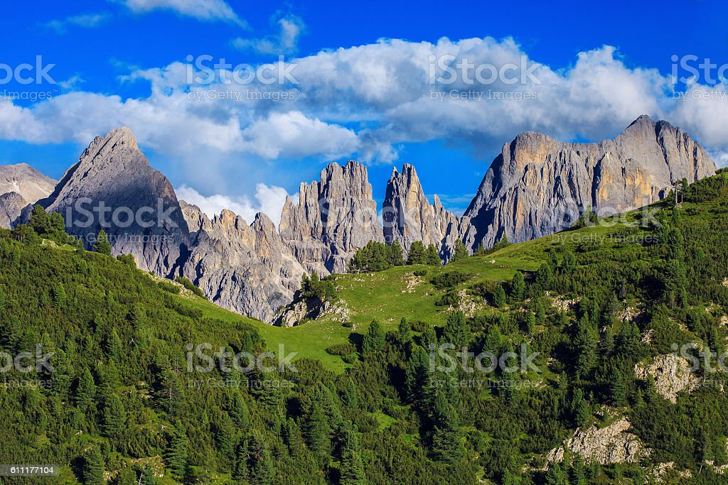 Amazing Mountains in Northern Italy stock photo