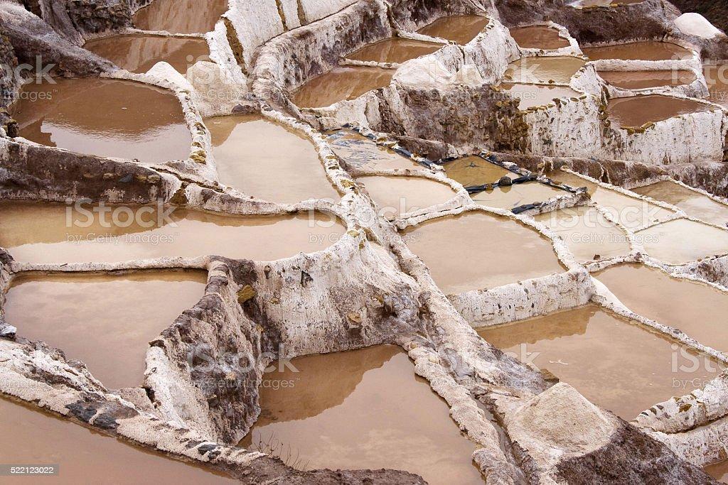 Amazing natural scenery: Salinas de Maras, Peru stock photo