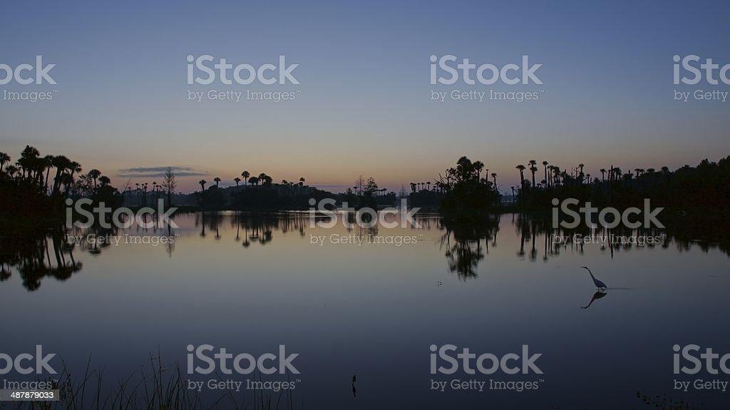 Amazing Orlando Sunrise stock photo
