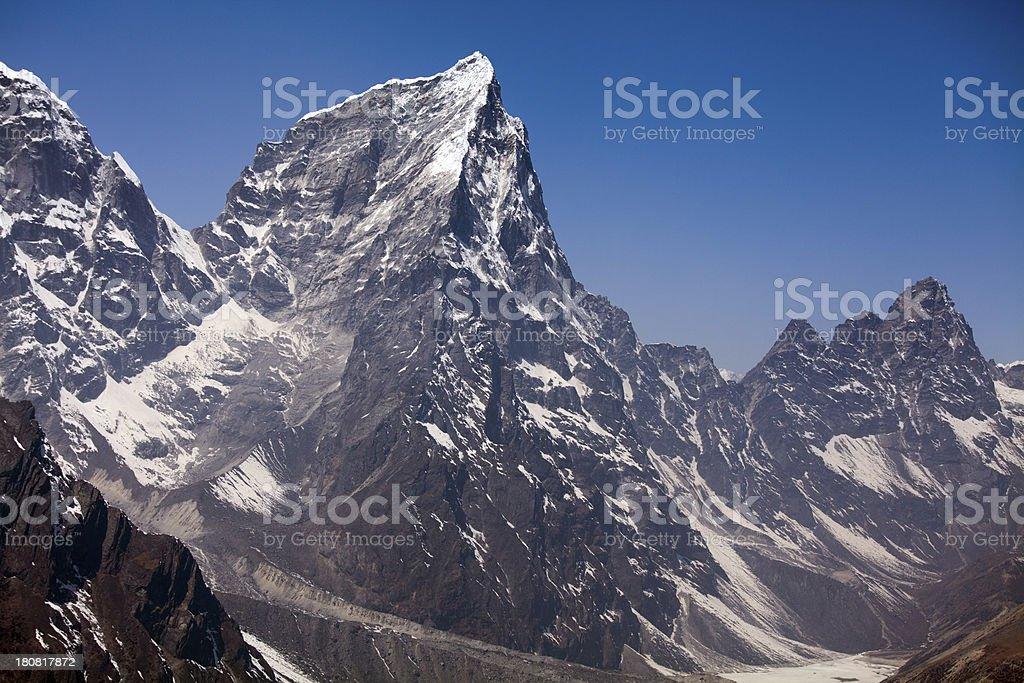 Amazing panorama Himalayas mountain range on beautiful sunny day royalty-free stock photo
