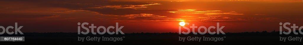 Amazing Panoramic Sunrise stock photo