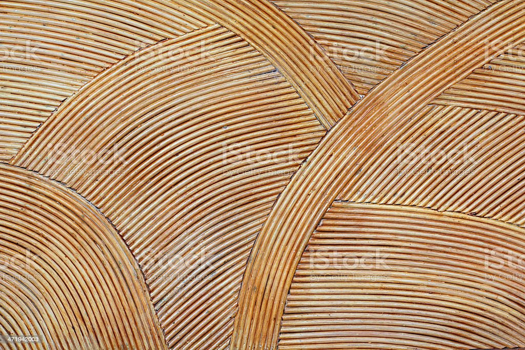 Amazing rattan brown background stock photo