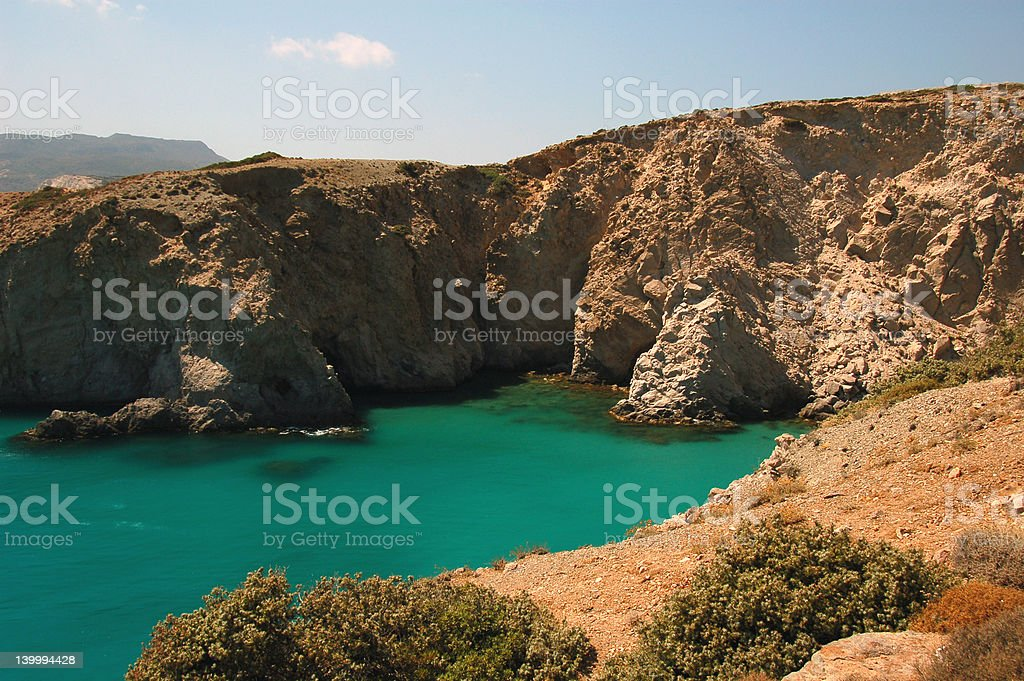 amazing rocky coastline royalty-free stock photo