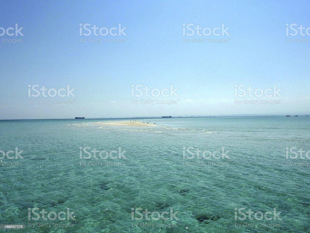 Amazing Sandbank, Djibouti royalty-free stock photo