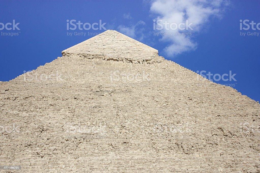 Amazing Scene for Giza Pyramids royalty-free stock photo