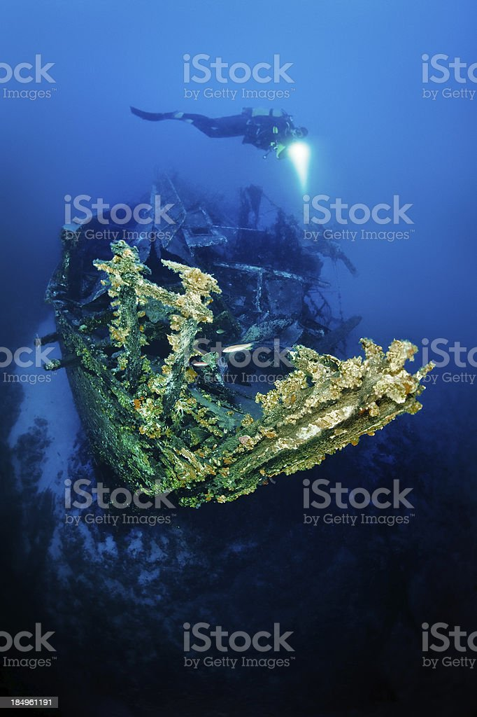Amazing Ship Wreck royalty-free stock photo