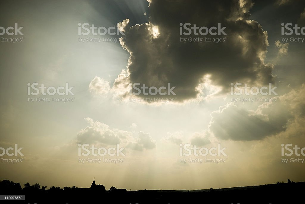 Amazing Sky royalty-free stock photo
