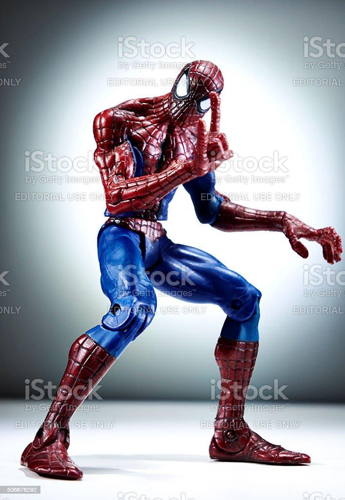 Amazing Spider-Man Action Figure stock photo