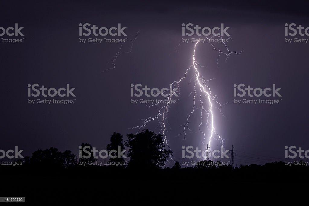 amazing storm stock photo