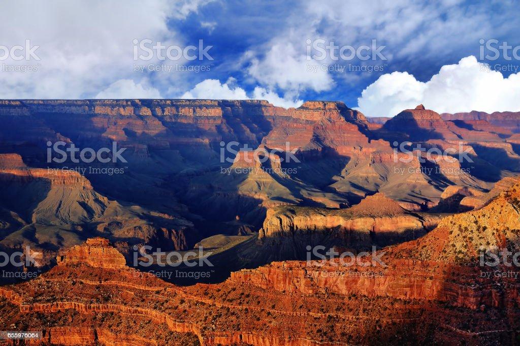 Amazing Sunrise Image of the Grand Canyon stock photo