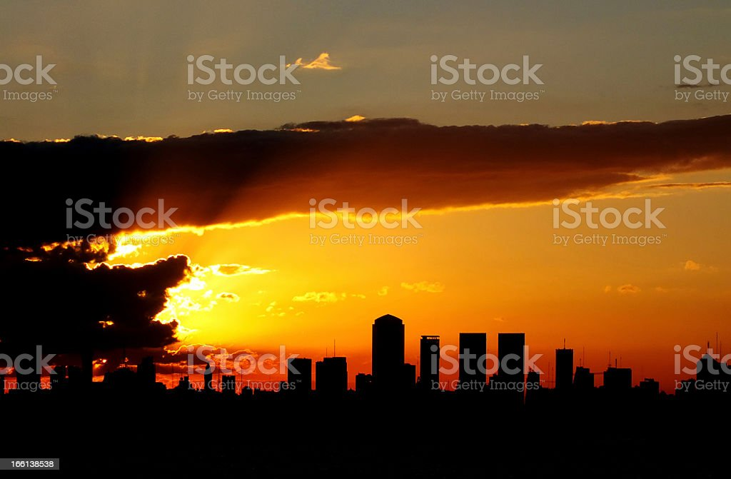amazing sunset at puerto madero, buenos aires royalty-free stock photo