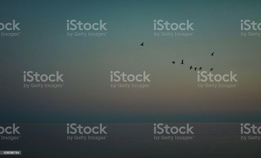Amazing sunset form thailand beach stock photo