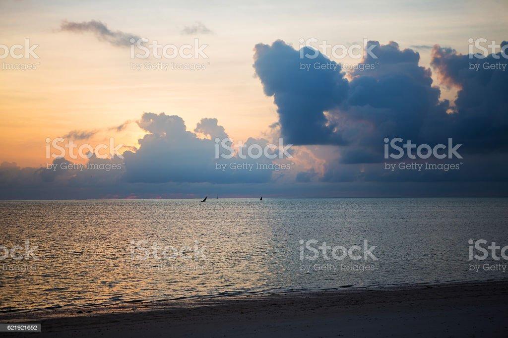 Amazing sunset stock photo
