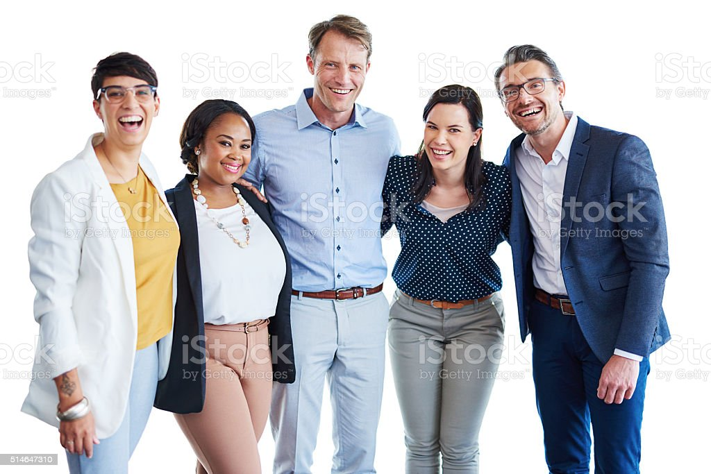 Amazing team rapport is our number one asset stock photo