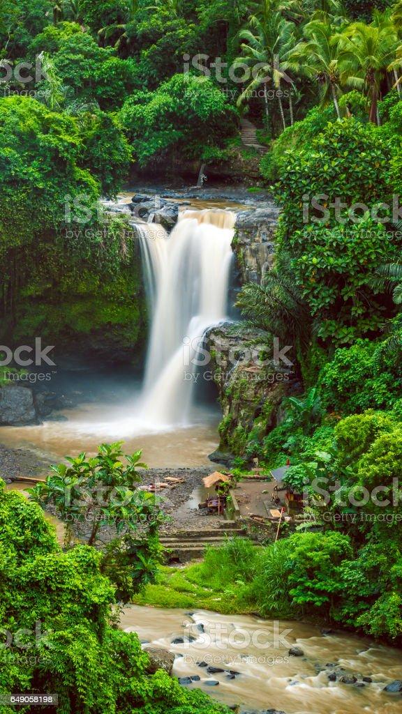 Amazing Tegenungan Waterfall near Ubud in Bali, Indonesia stock photo