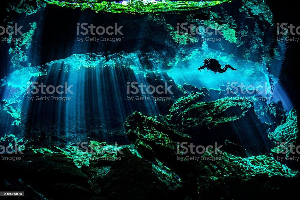 Amazing underwater locations stock photo
