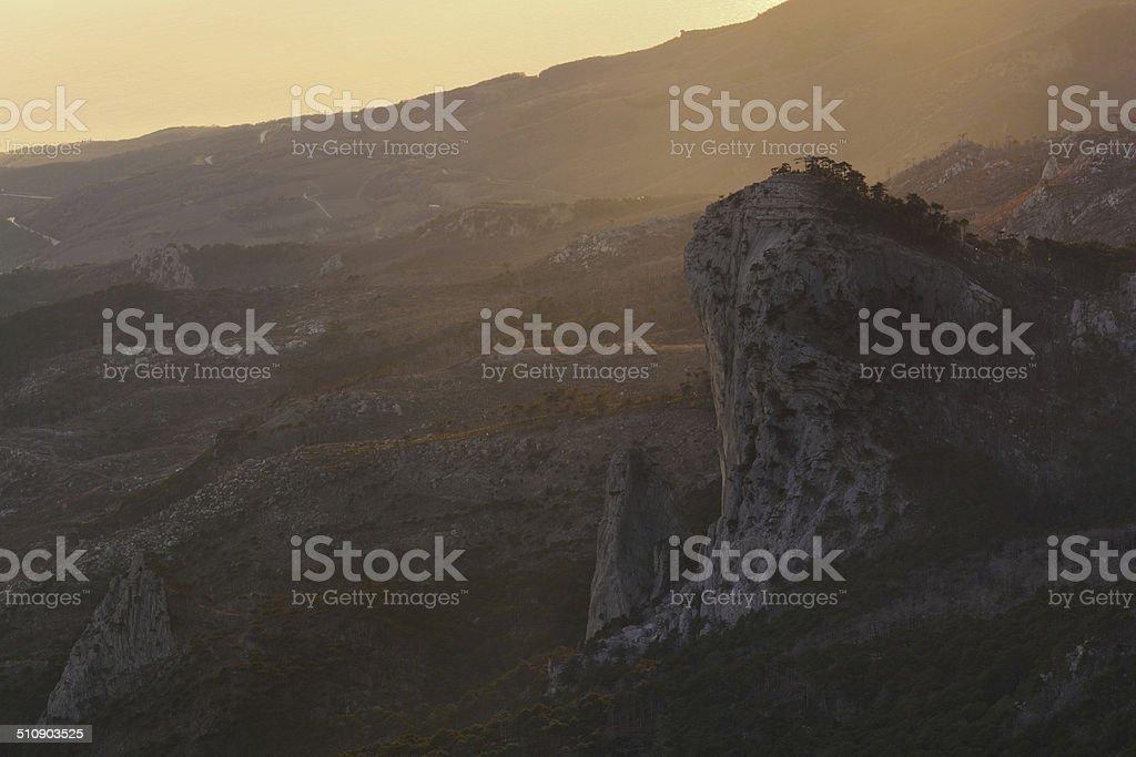 Increíble vista desde la montaña Ai-Petri foto de stock libre de derechos