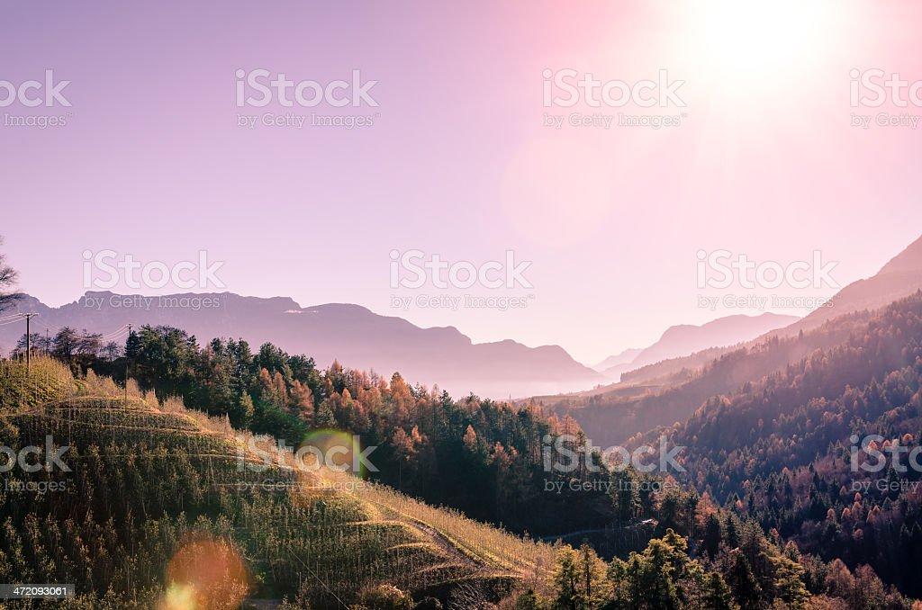 Amazing view in Trentino, Italy stock photo