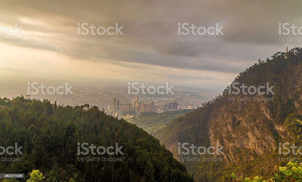 Amazing view of Bogota, Colombia - Latin America stock photo