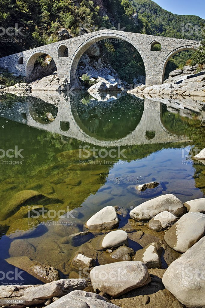 Amazing view of Devil's Bridge, Bulgaria stock photo