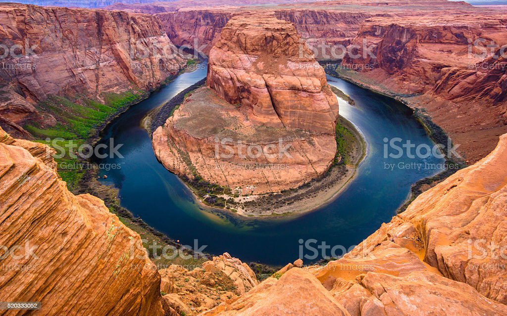 Amazing view of Horseshoe bend, Arizona stock photo