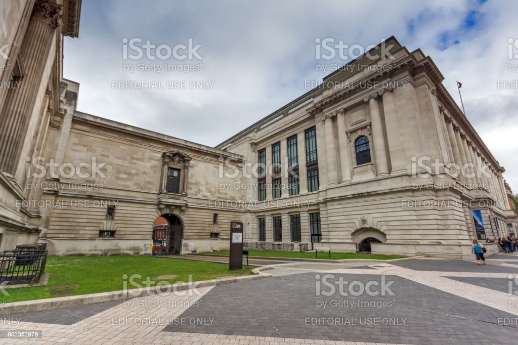 Amazing view of Natural History Museum,  London stock photo