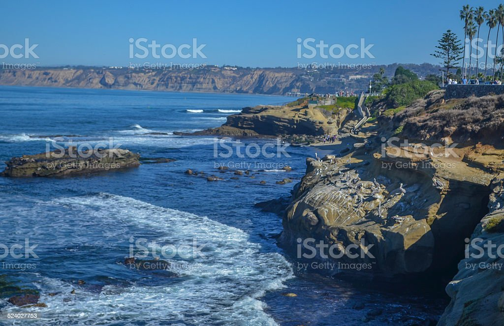 Amazing view of Pacific coast, near San Diego, California stock photo