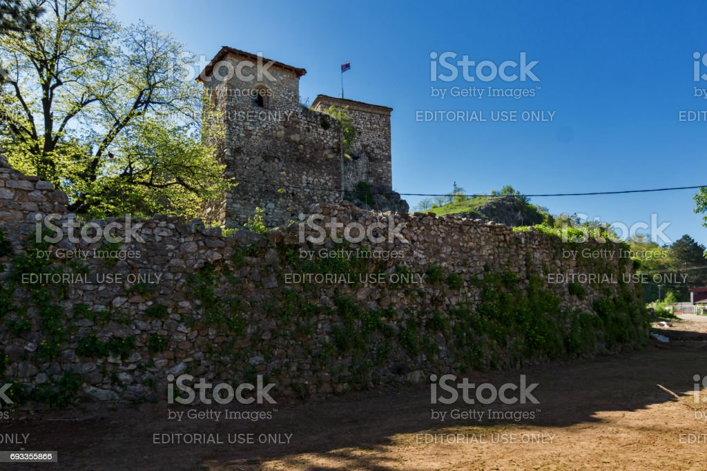 Amazing view of Pirot Fortress, Republic of Serbia stock photo